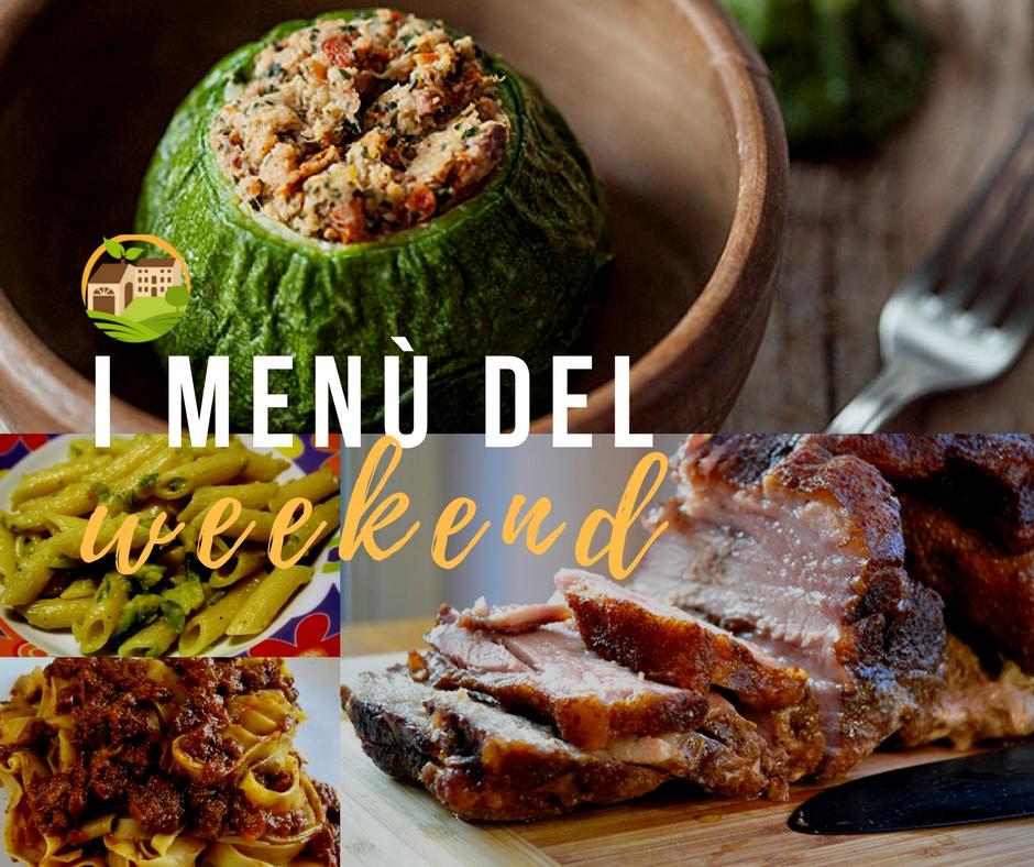 Il menù del weekend // 15.07.17