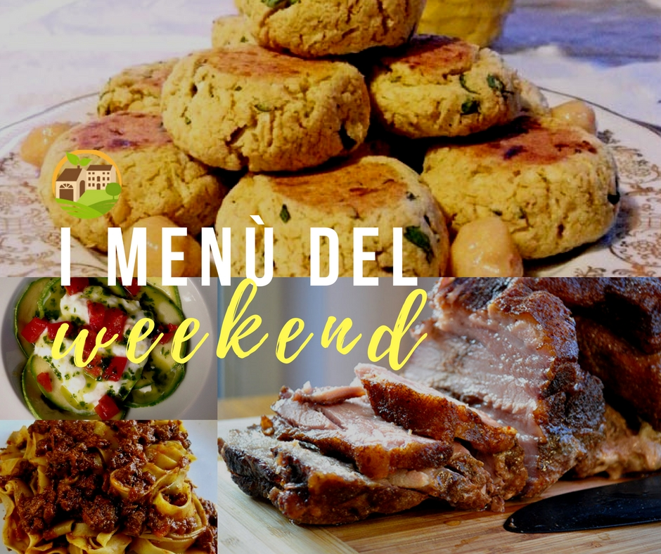 I menù del weekend // 21.07.17