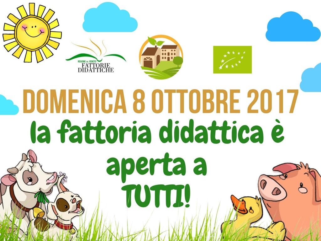 Domenica 8 Ottobre 2017, è la giornata delle fattorie APERTE!