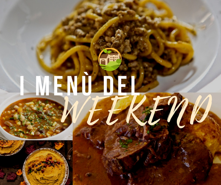 I menù del weekend / 15.09.2017