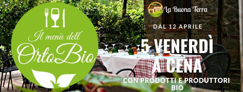 """""""Il menù dell'OrtoBio"""" dal 12 aprile a La Buona Terra!"""