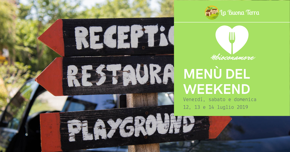 I MENU' DEL WEEKEND 12/07