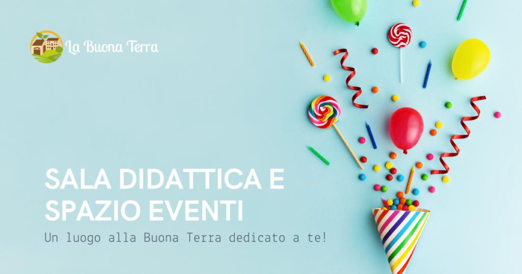 sala didattica spazio eventi Padova La Buona Terra