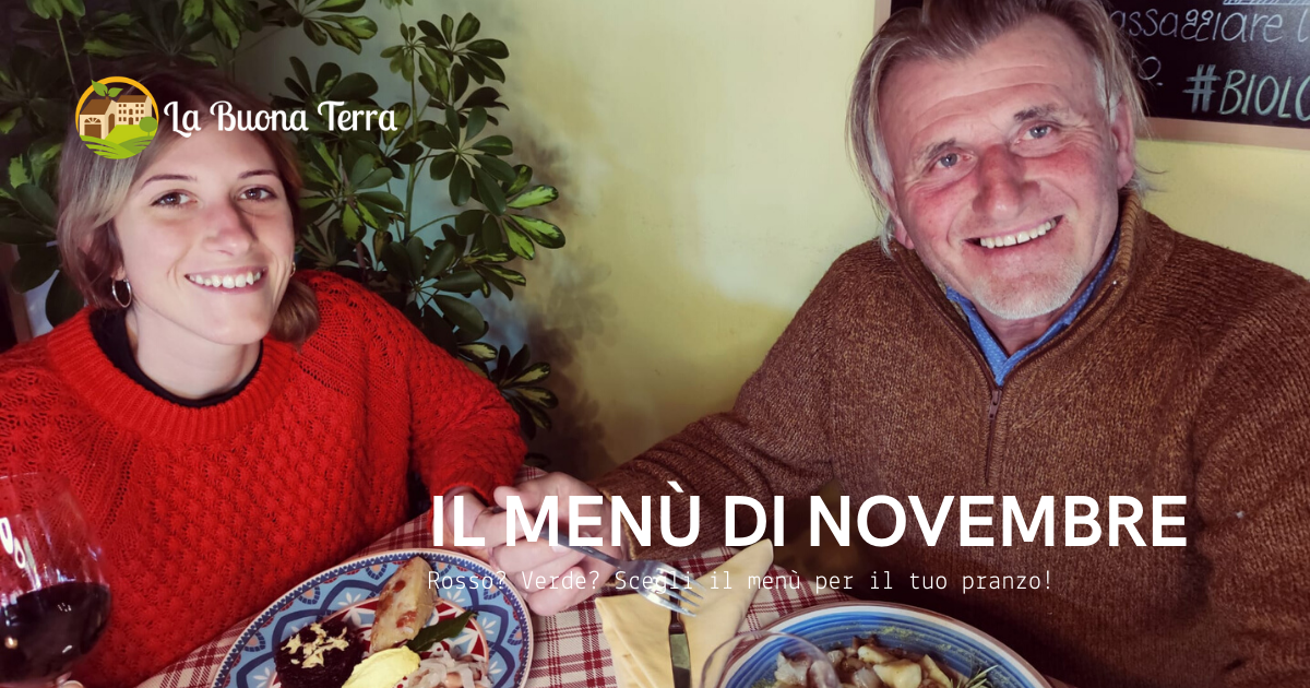 I menù del weekend  – Mese di Novembre